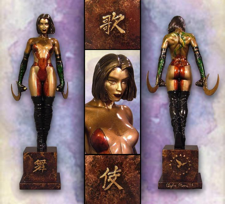 Faux Bronze KABUKI display